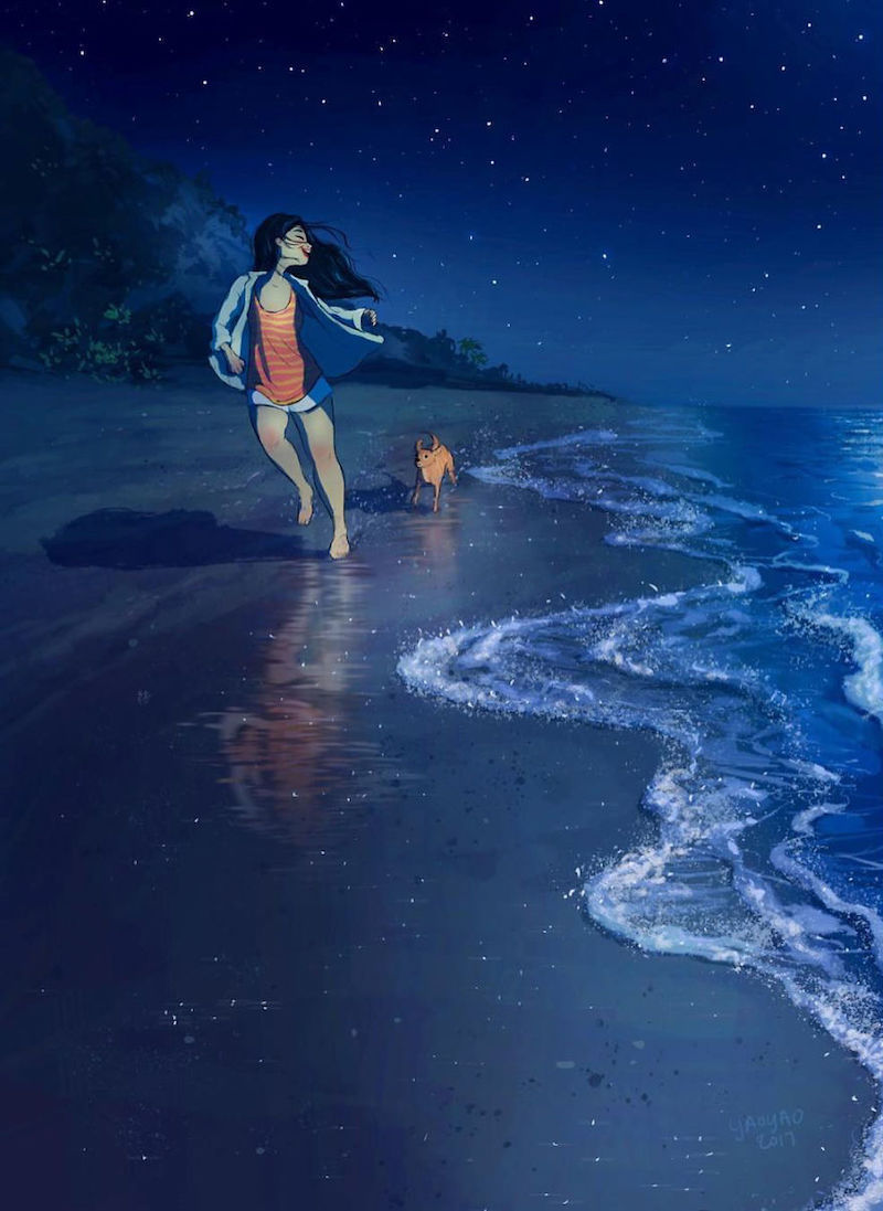 20 adorables illustrations qui montrent à quel point la vie est belle lorsqu'on la partage avec un chienr