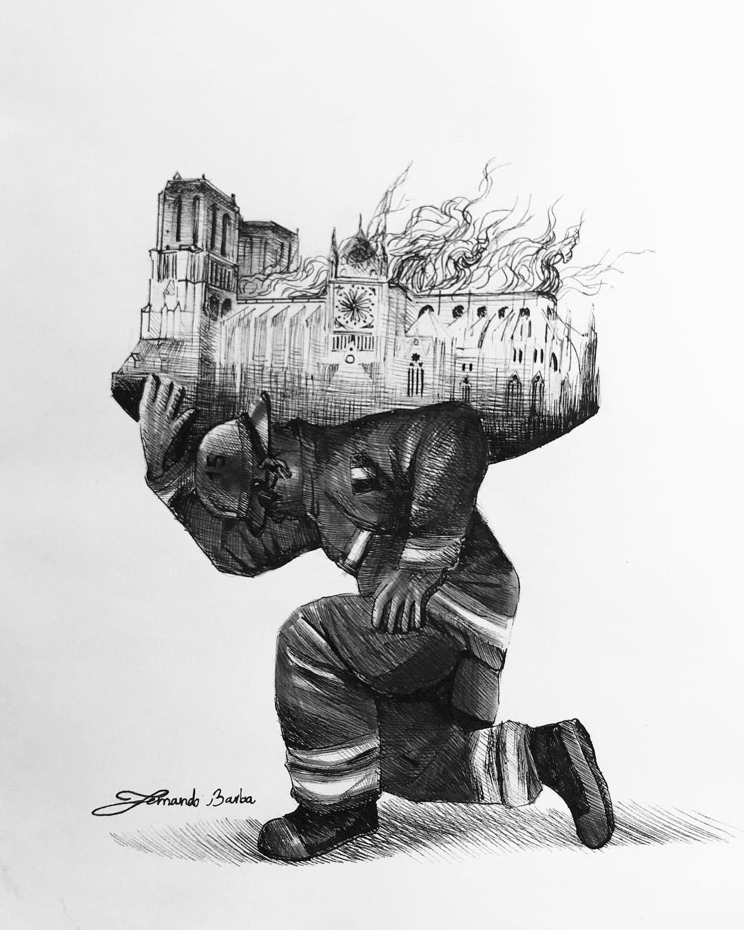 Hommage à Notre Dame de Paris Notre-dame-illustrations-hommage-incendie-10