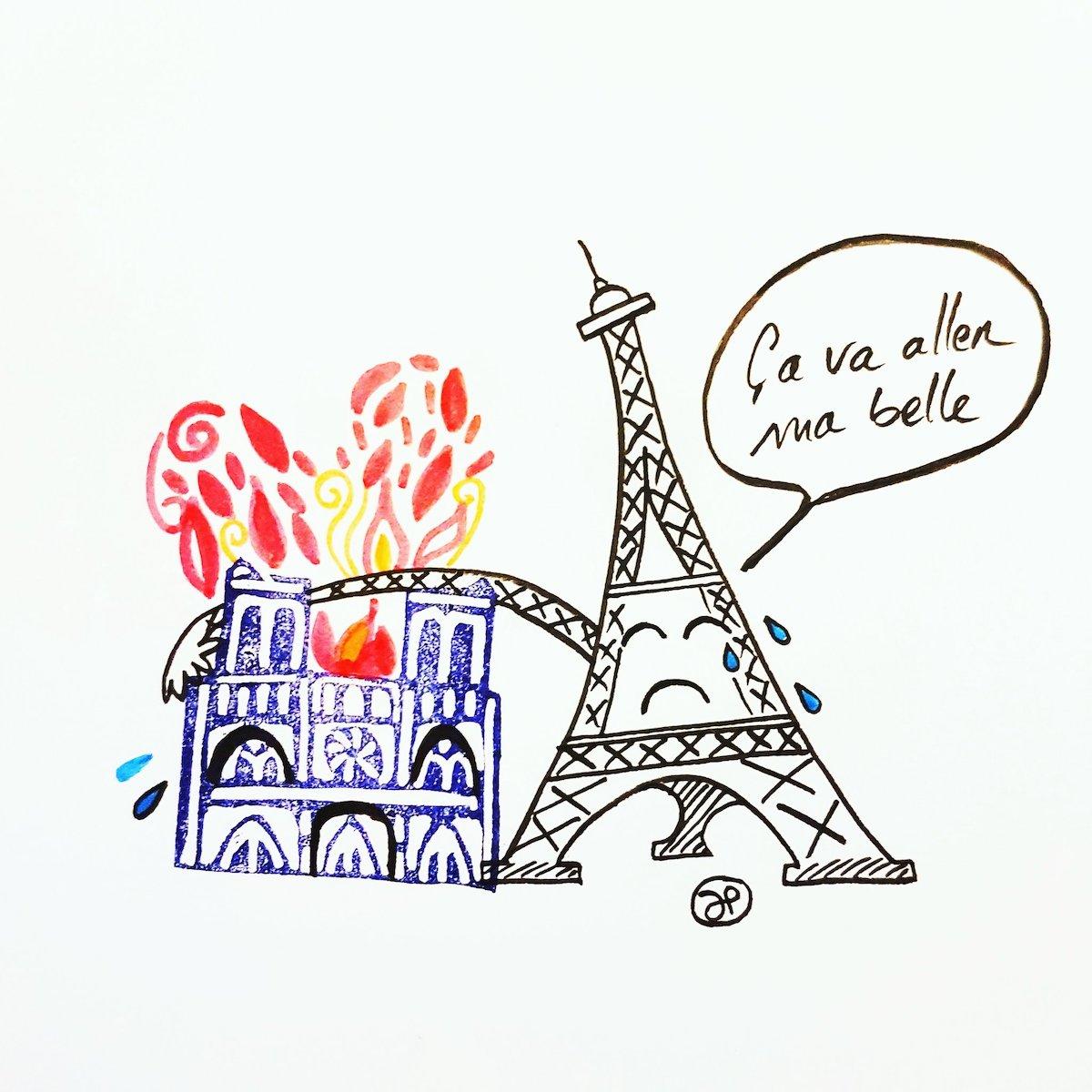 Hommage à Notre Dame de Paris Notre-dame-illustrations-hommage-incendie-16