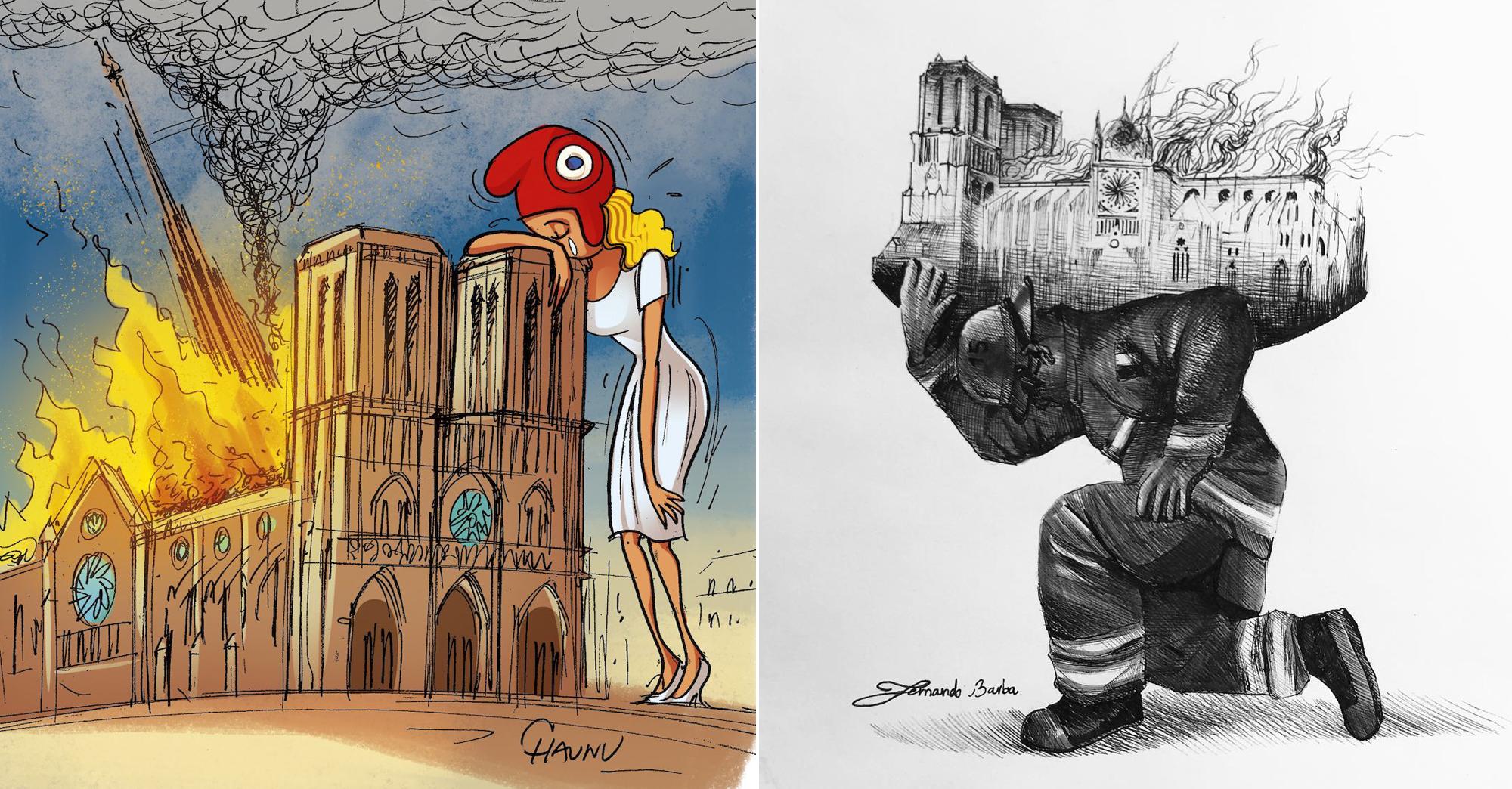 30 Illustrations Qui Rendent Hommage à La Cathédrale Notre Dame De