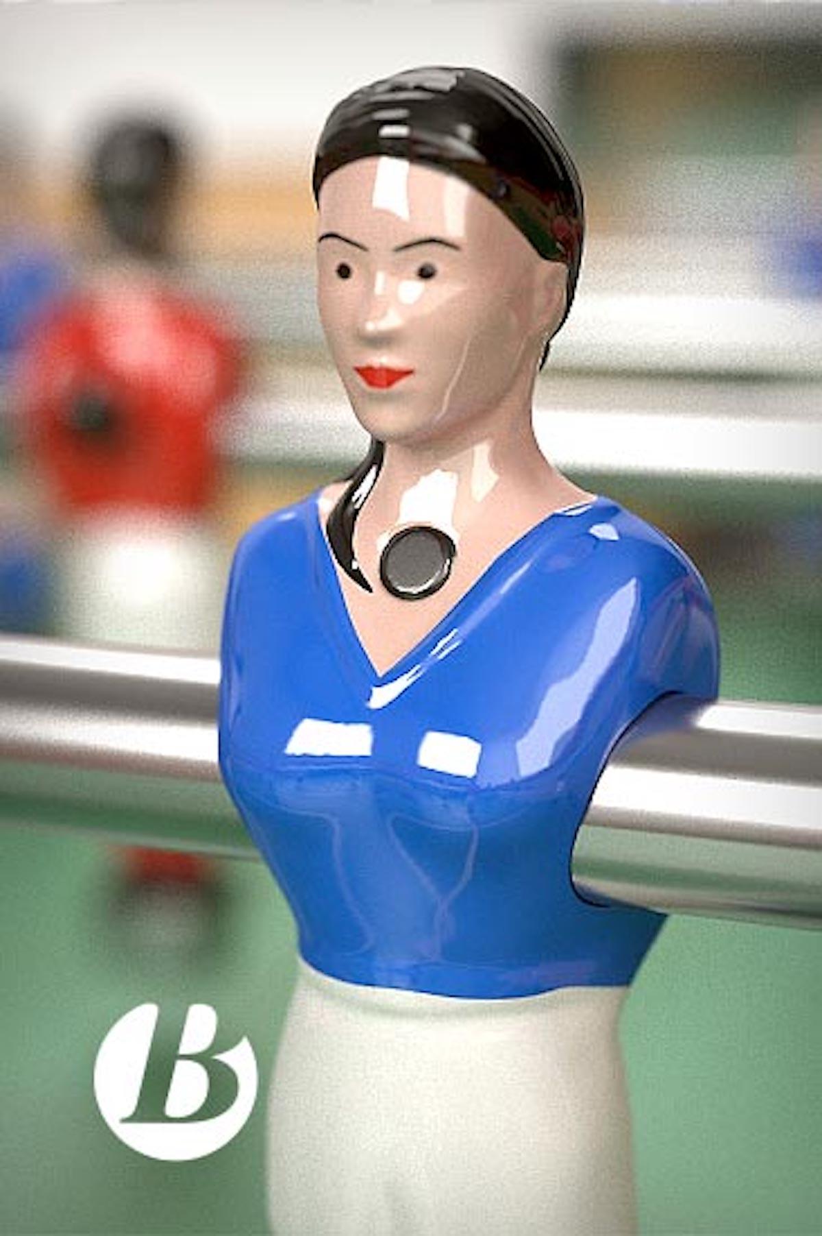 Baby-foot mixte figurine féminine