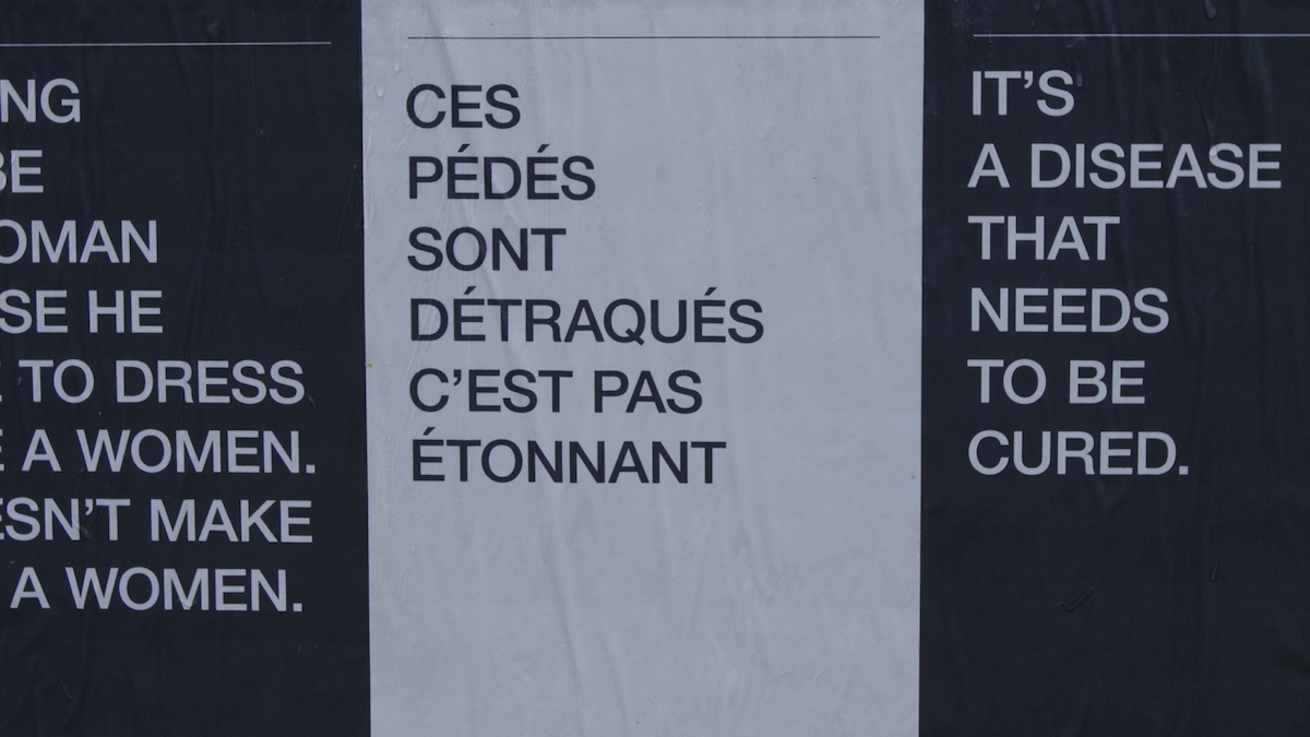 Affiches homophobes Fondation Émergence
