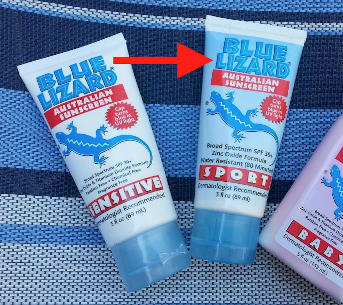 Blue Lizard crème solaire