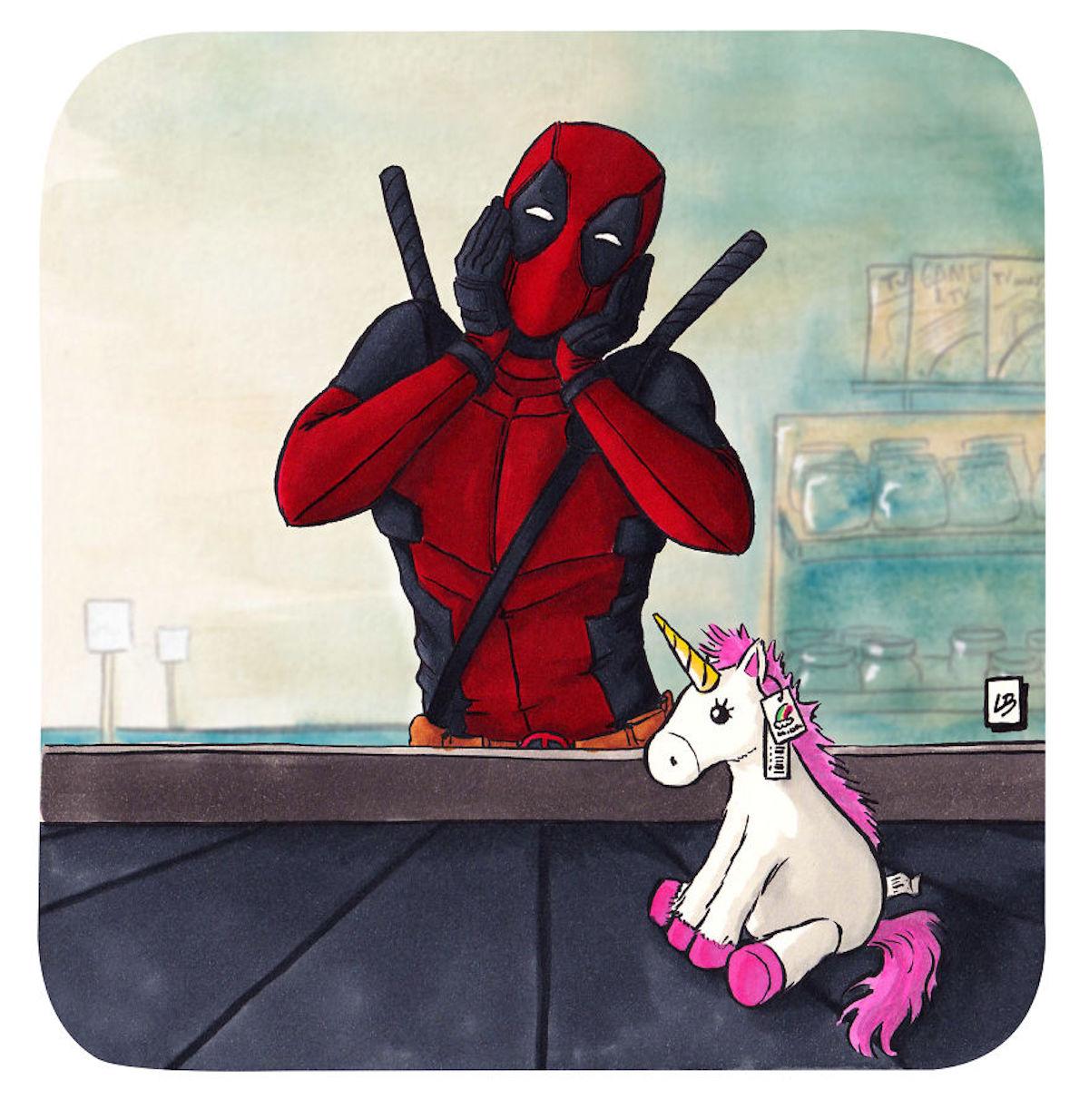 Deadpool licorne Linda Bouderbala