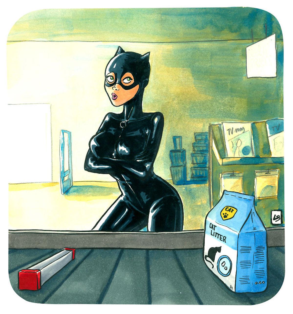 Catwoman litière Linda Bouderbala