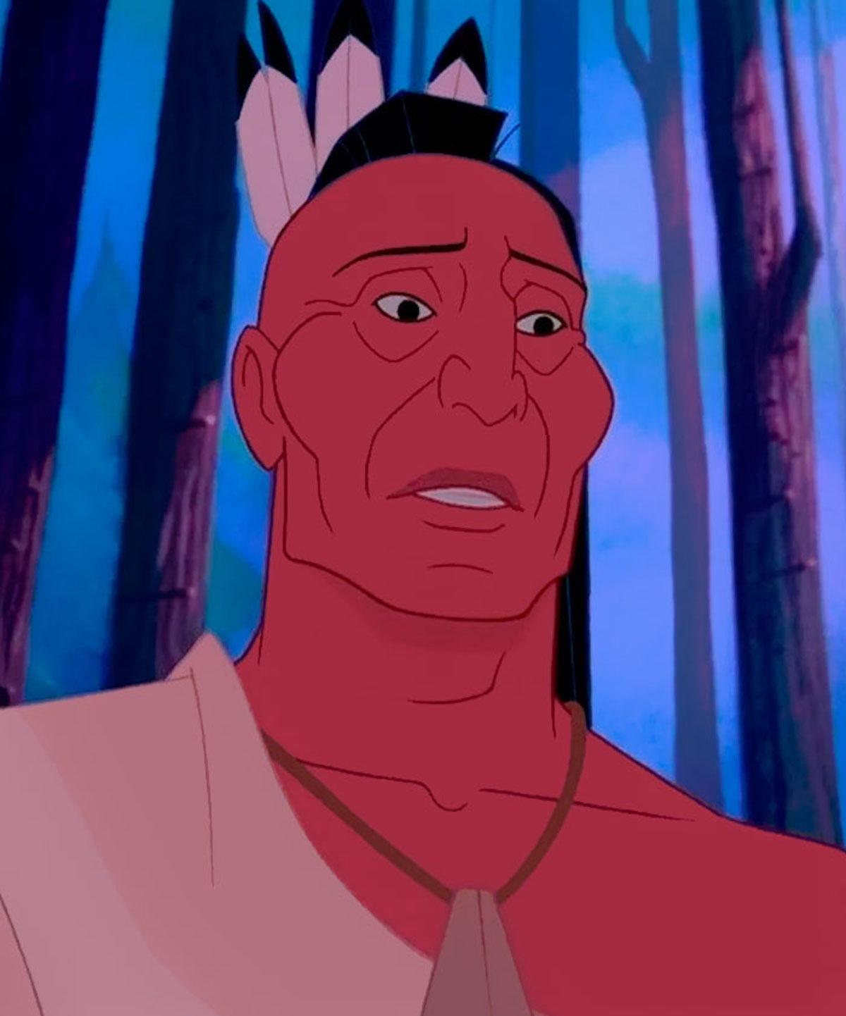 Illustrations Chef Powhatan père de Pocahontas Jirka Väätäinen