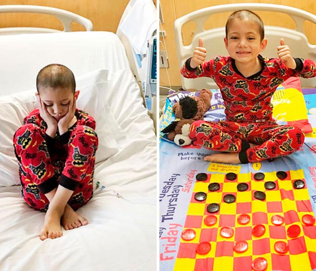 Kevin Gatlin draps jeux enfants hôpital