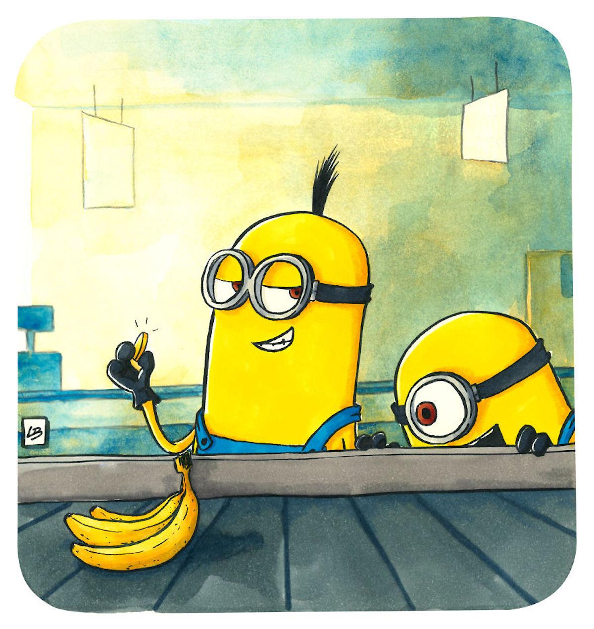Les Minions bananes Linda Bouderbala