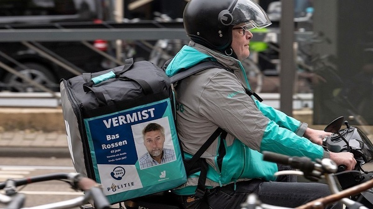 Affiche enfants disparus Deliveroo