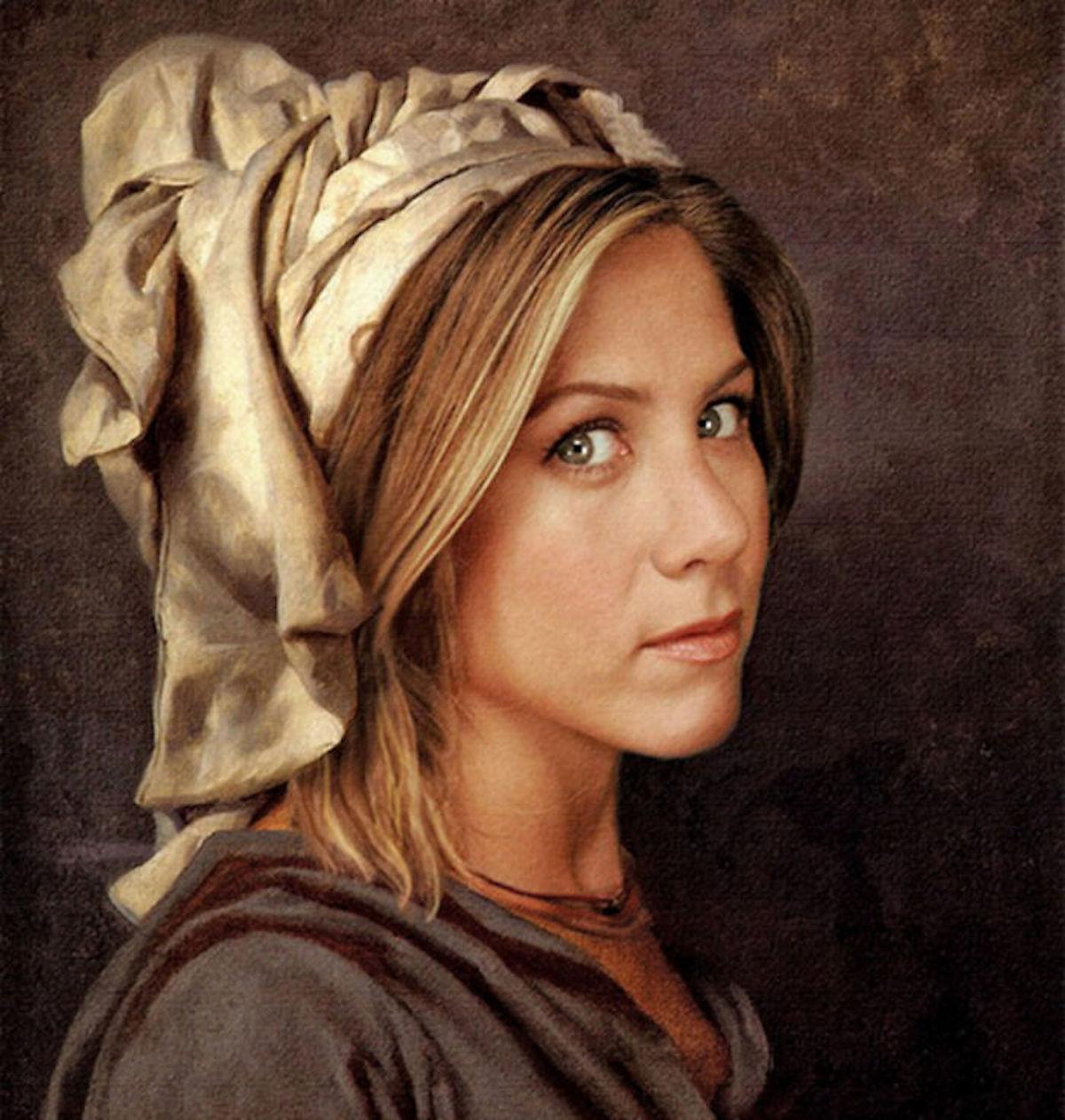 Jennifer Aniston Art Digital Design Crowd