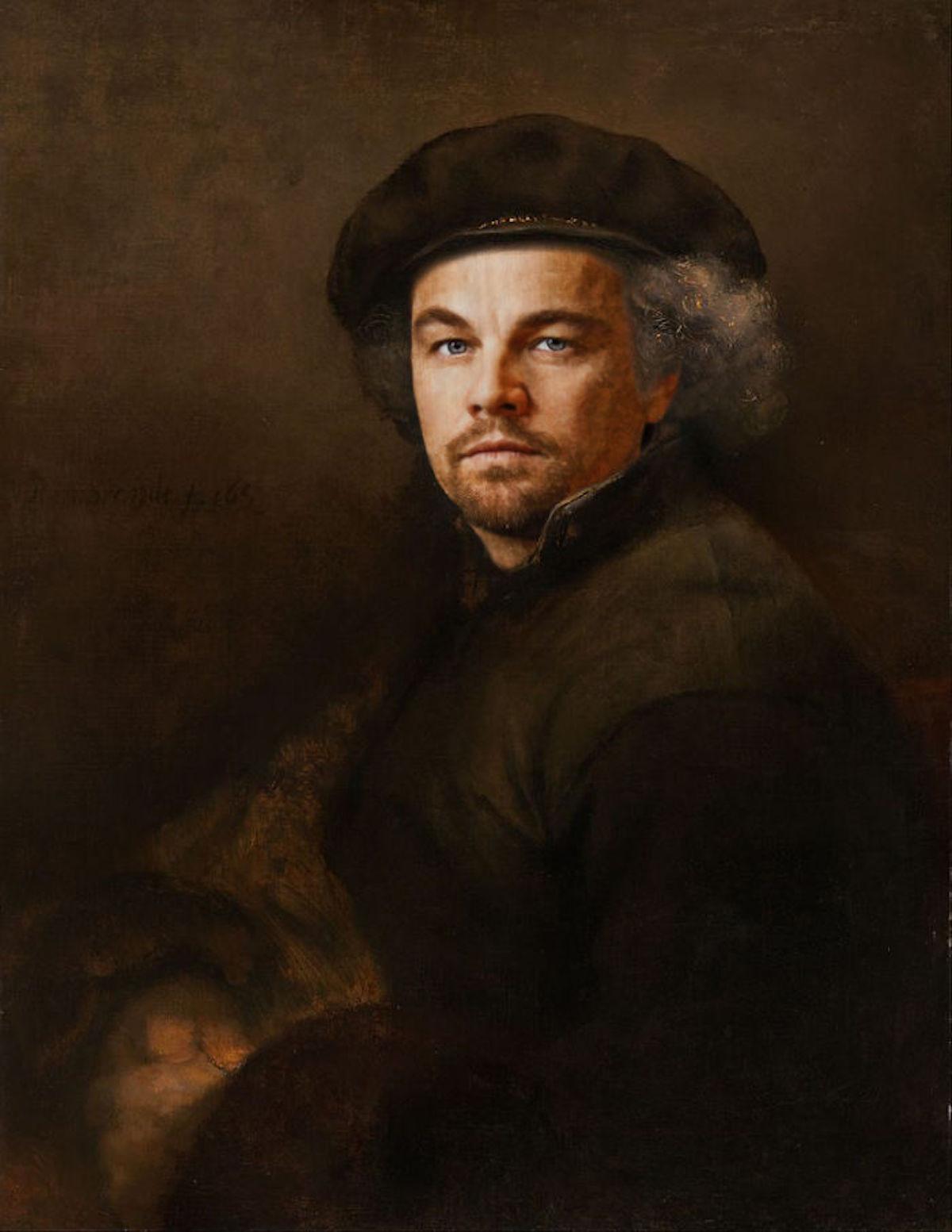 Leonardo DiCaprio Art Digital Design Crowd