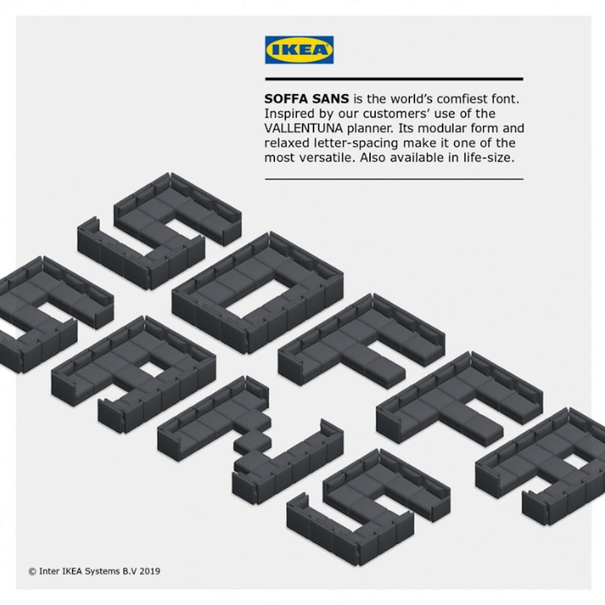 IKEA alphabet canapé