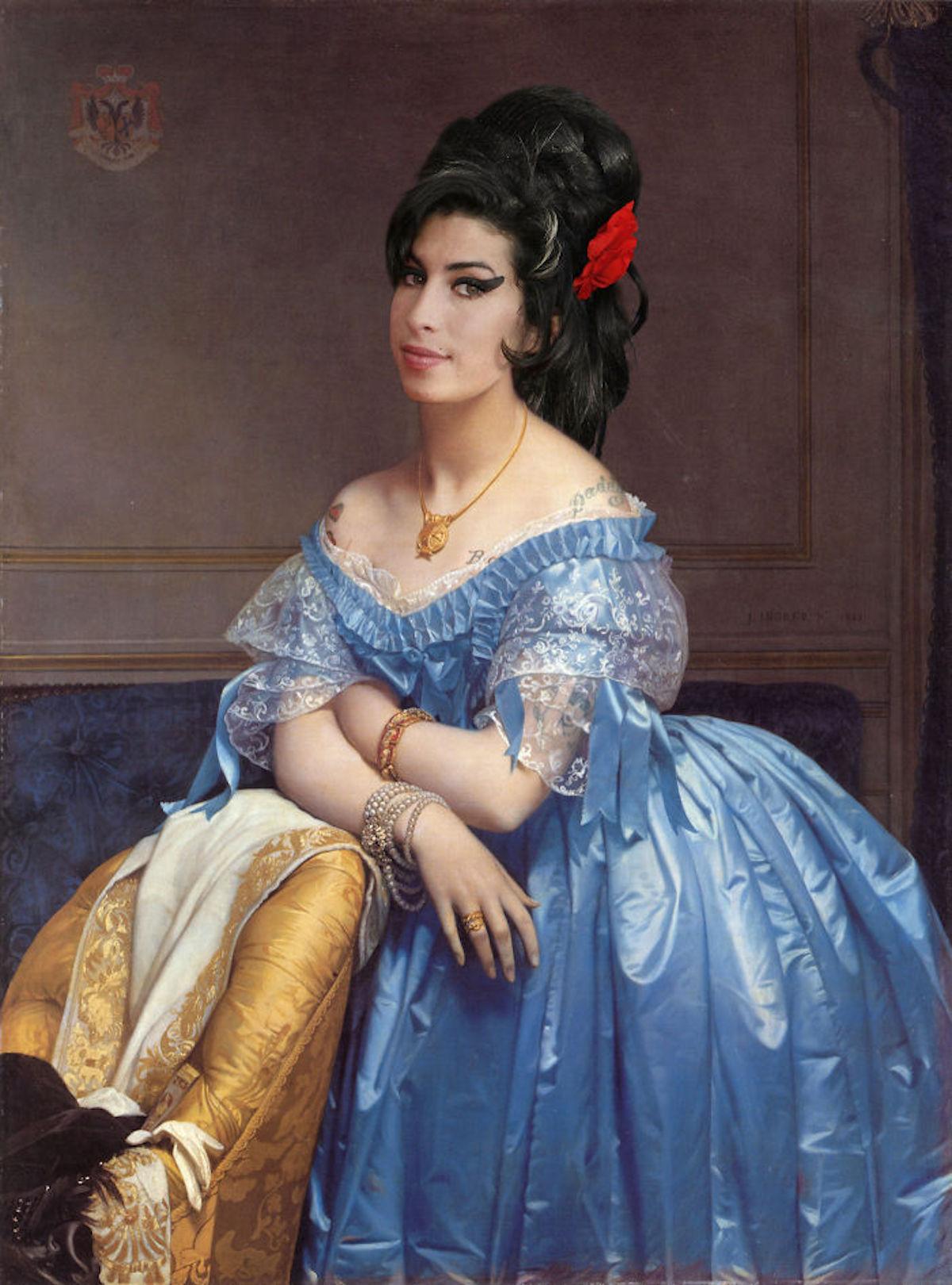 Amy Winehouse Art Digital Design Crowd