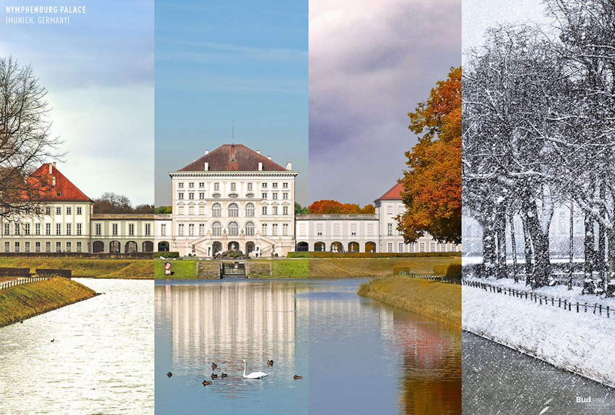 1 lieu 4 saisons Palais de Nymphenburg BudgetDirect