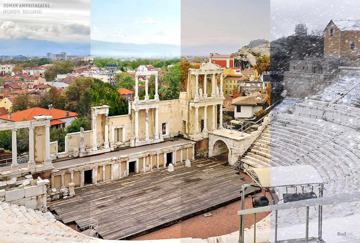 1 lieu 4 saisons Amphithéâtre romain BudgetDirect
