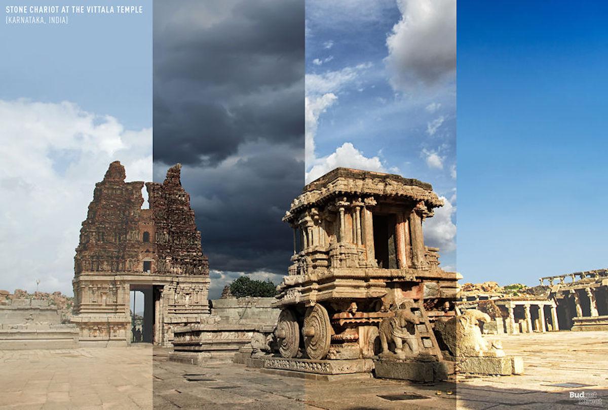 1 lieu 4 saisons Chariot de pierre au temple de Vittala BudgetDirect