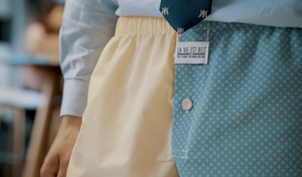 Recycler des vieux textiles en caleçons créatifs