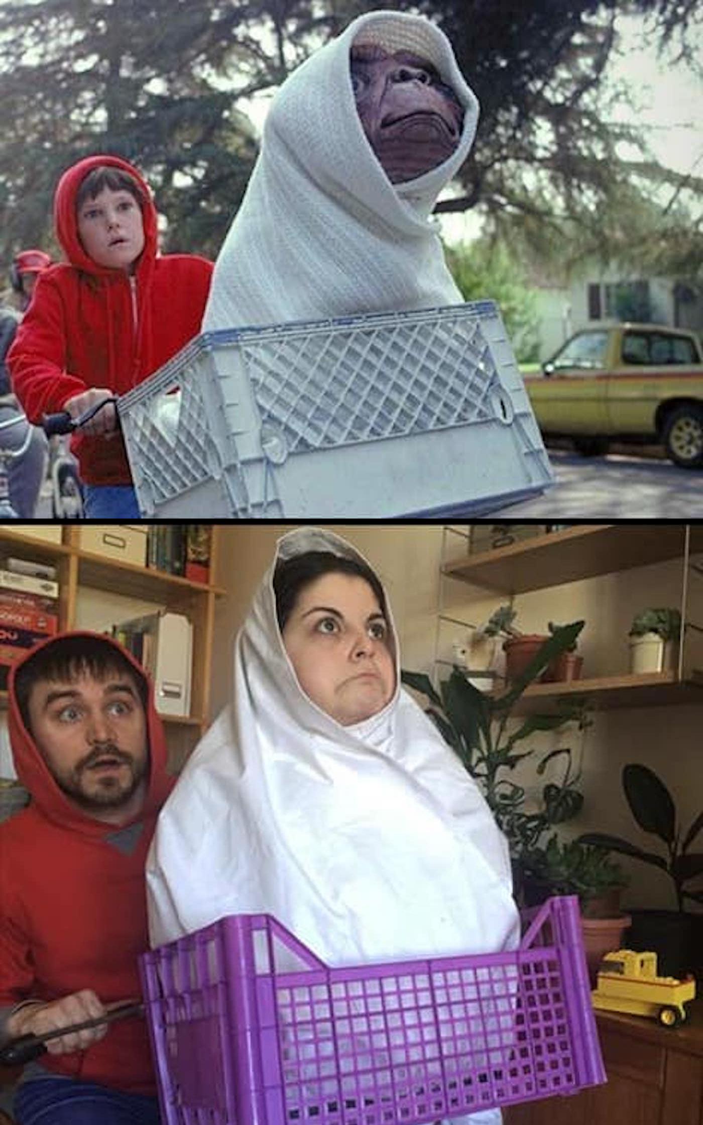 Détournement du film E.T., l'extra-terrestre
