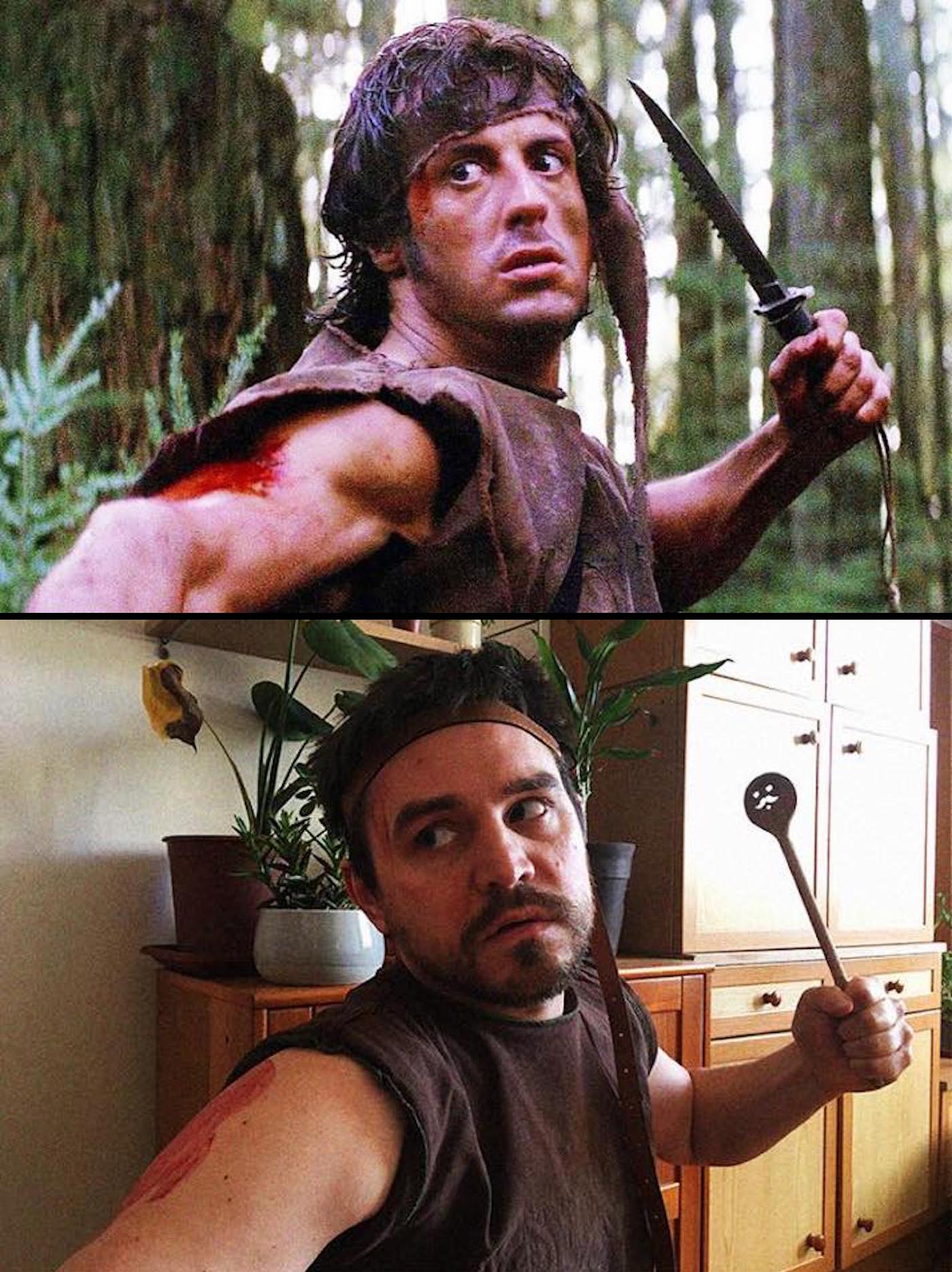 Détournement du film Rambo