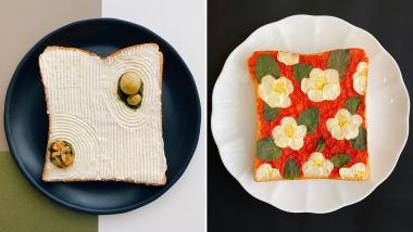 L'artiste japonaise Sasamana transforme ses tartines en art délicieux
