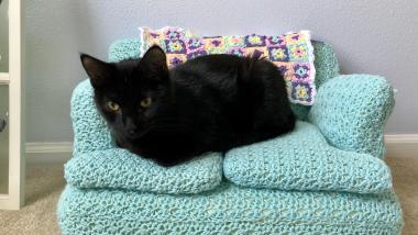 Des mini-canapés pour chat à réaliser soi-même en crochet pendant le confinement