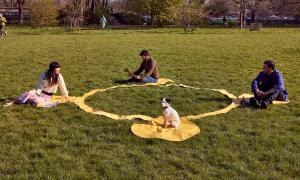 Une nappe de picnic conçu pour la distanciation sociale