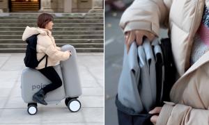 Poimo : un scooter électrique gonflable qui tient dans un sac
