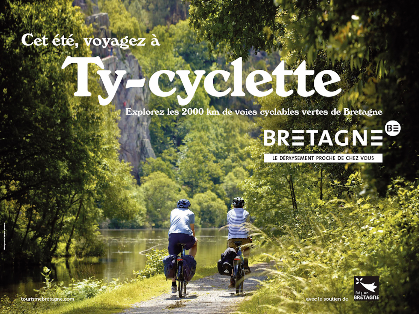 Ty-cyclette : la campagne de pub pour le tourisme en Bretagne