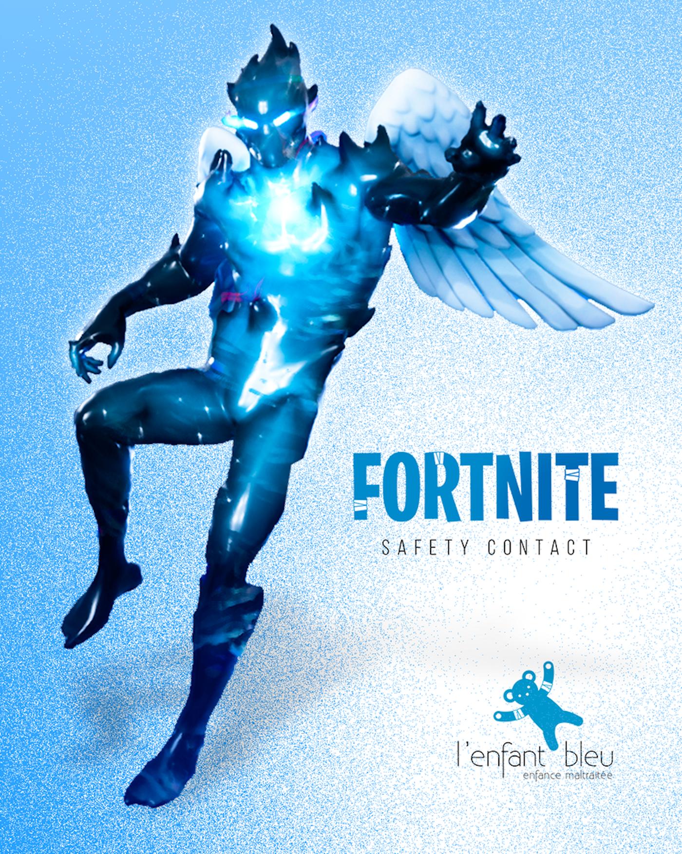 L'association L'Enfant Bleu crée un ange bleu dans Fortnite contre les violences faites aux enfants