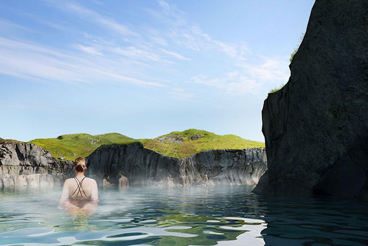 Sky Lagoon : l'Islande va créer un lagon thermal qui intègre un bar aquatique