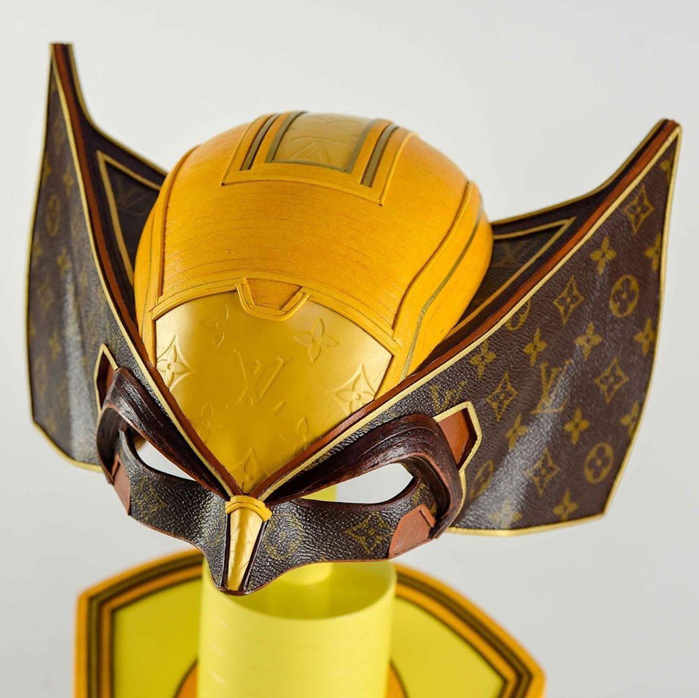 L'artiste Gabriel Dishaw recycle les sacs Vuitton en masques célèbres
