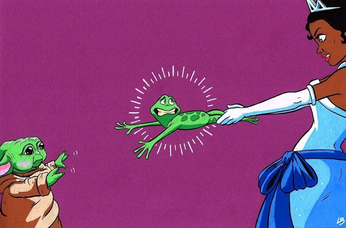 """L'illustratrice Linda Bouderbala fusionne les personnages célèbres autour d'un objet commun dans sa série """"Objects Of Desire"""""""