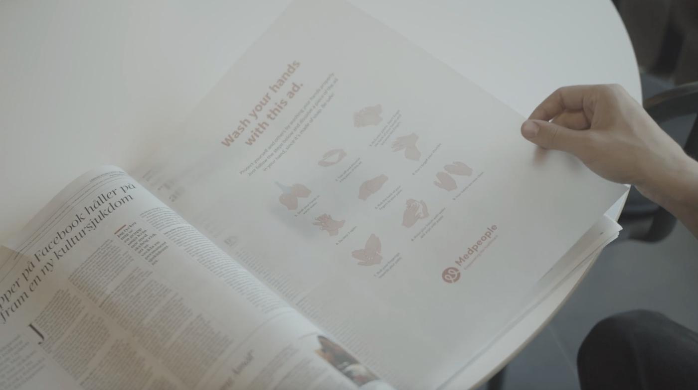 Cette page de publicité s'arrache pour devenir un savon