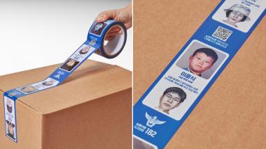 Un ruban adhésif pour retrouver les personnes disparues en Corée du Sud.