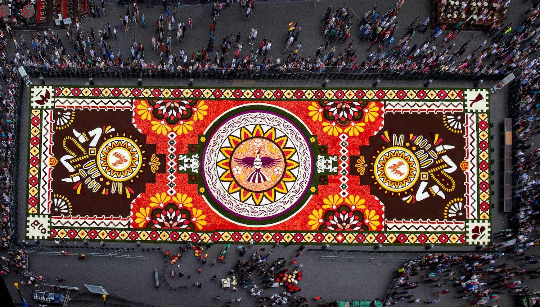 Bruxelles : ce Tapis de Fleurs géant est composé de 500 000 bégonias