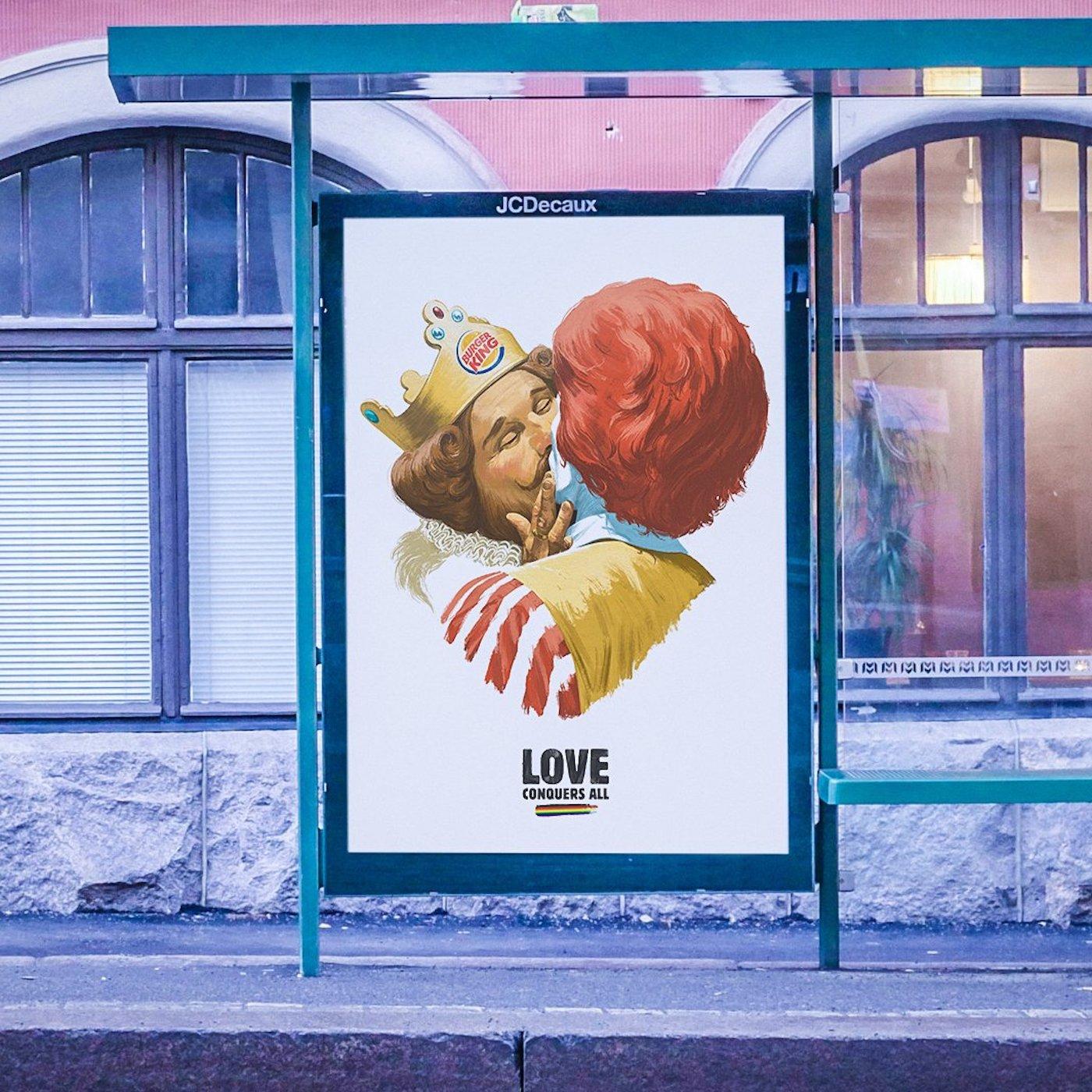 Burger King célèbre toutes les formes d'amour avec un petit clin d'oeil à McDonald's