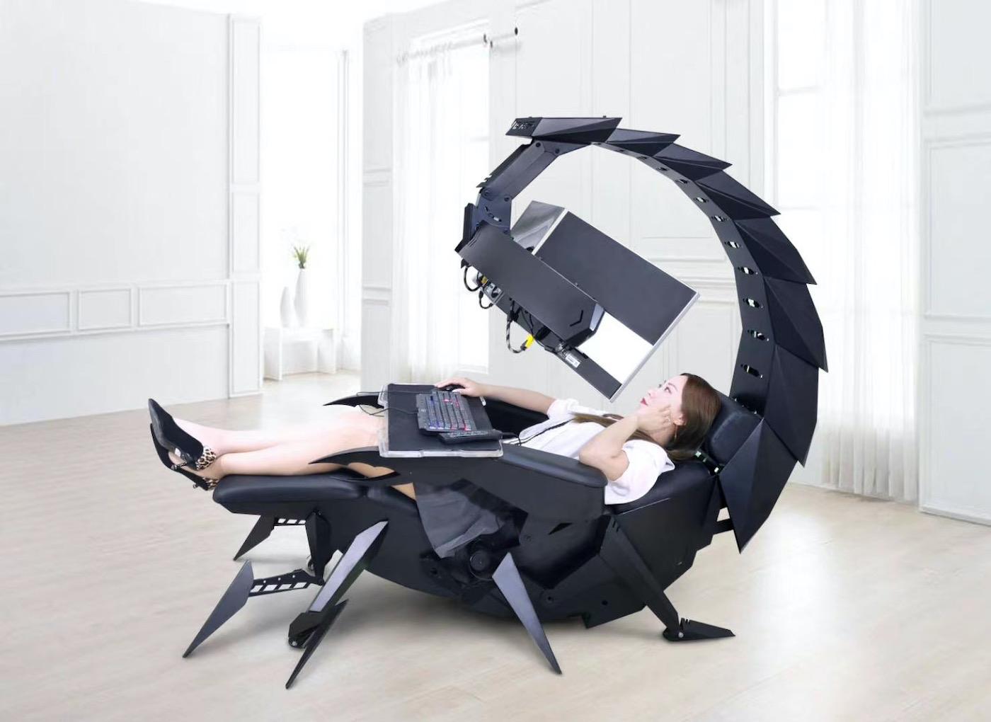 Ce fauteuil scorpion offre une expérience de bureau ultime