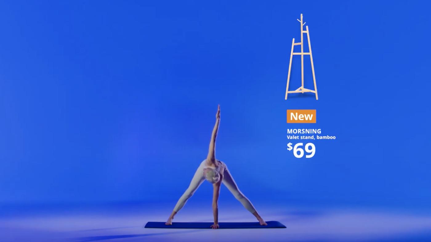 IKEA se lance dans le yoga en vous proposant... d'imiter la forme de ses produits