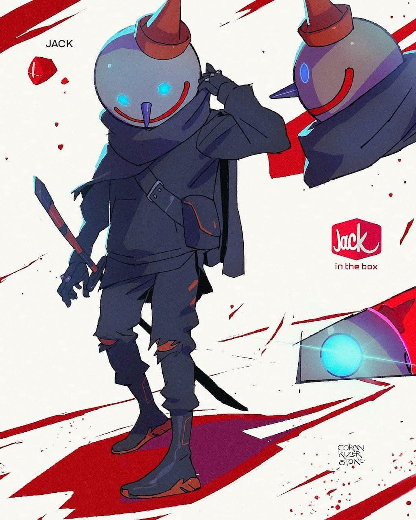 L'artiste Coran Kizer Stone transforme les marques de fast-food en personnages guerriers