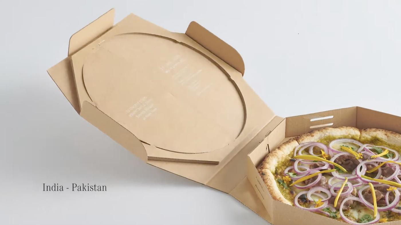 """Des """"pizzas de la paix"""" conçues en mélangeant les spécialités de pays en conflit"""