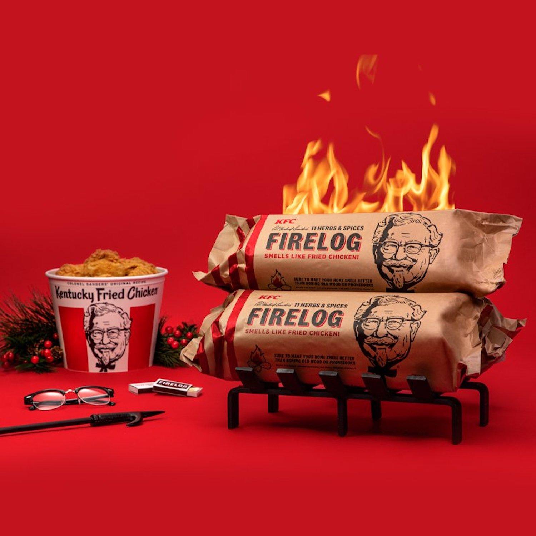 KFC lance une bûche de Noël qui sent le poulet frit