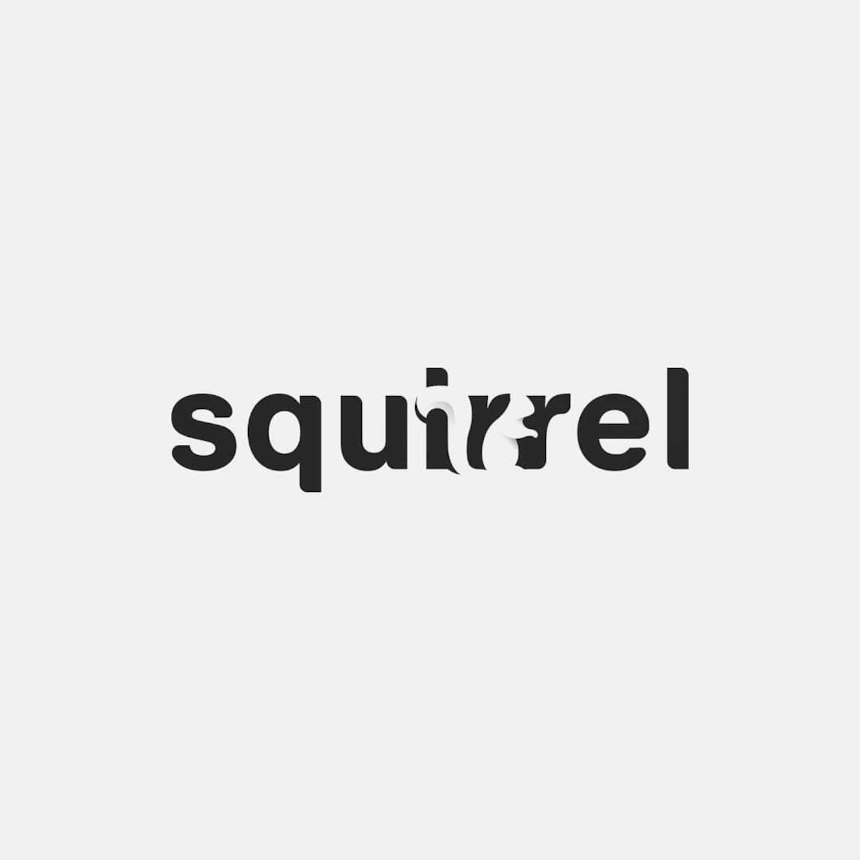 Ces mots transformés en logos jouent avec brio avec l'espace négatif
