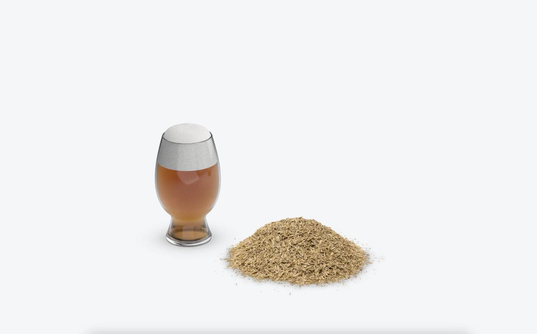 Recycler des résidus de bière en emballage de bière