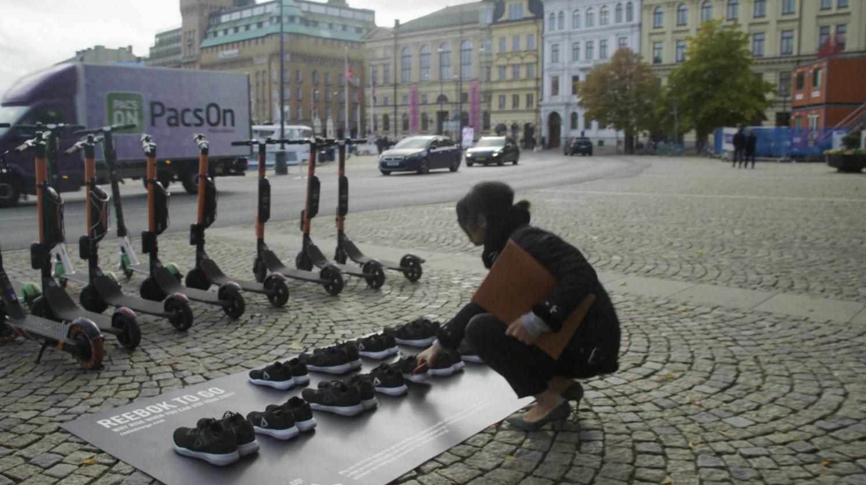 Reebok crée un vélib' des chaussures de sport pour bouger plus vite en ville