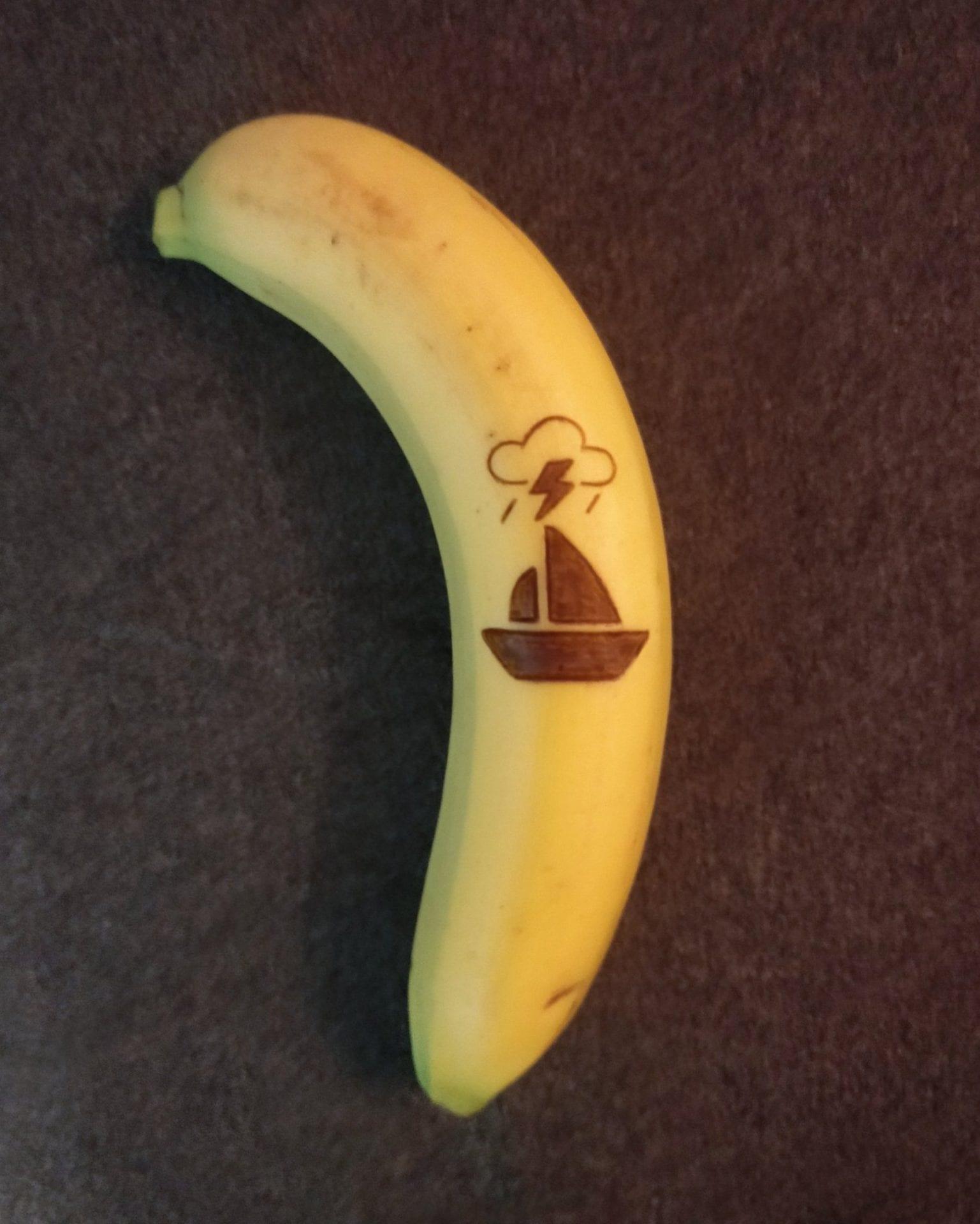 L'artiste Anna Chojnicka dessine sur des bananes sans utiliser d'encre