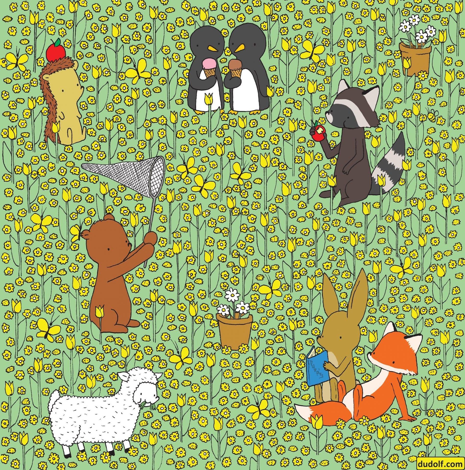 On vous met au défi de retrouver les personnages cachés dans ces 13 dessins de l'illustrateur Dudolf