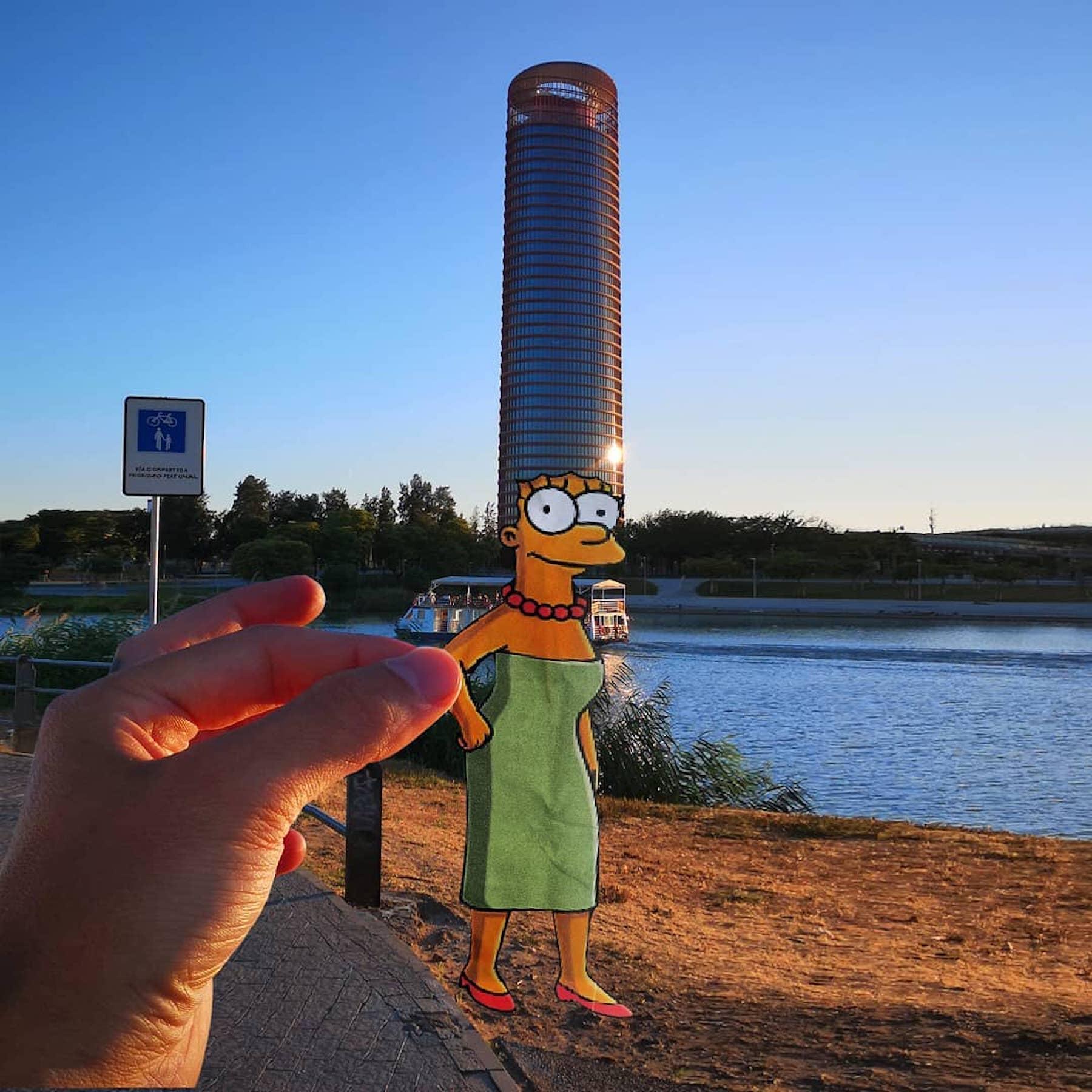 Le street artiste EFIX détourne la ville pour rendre hommage aux Simpson