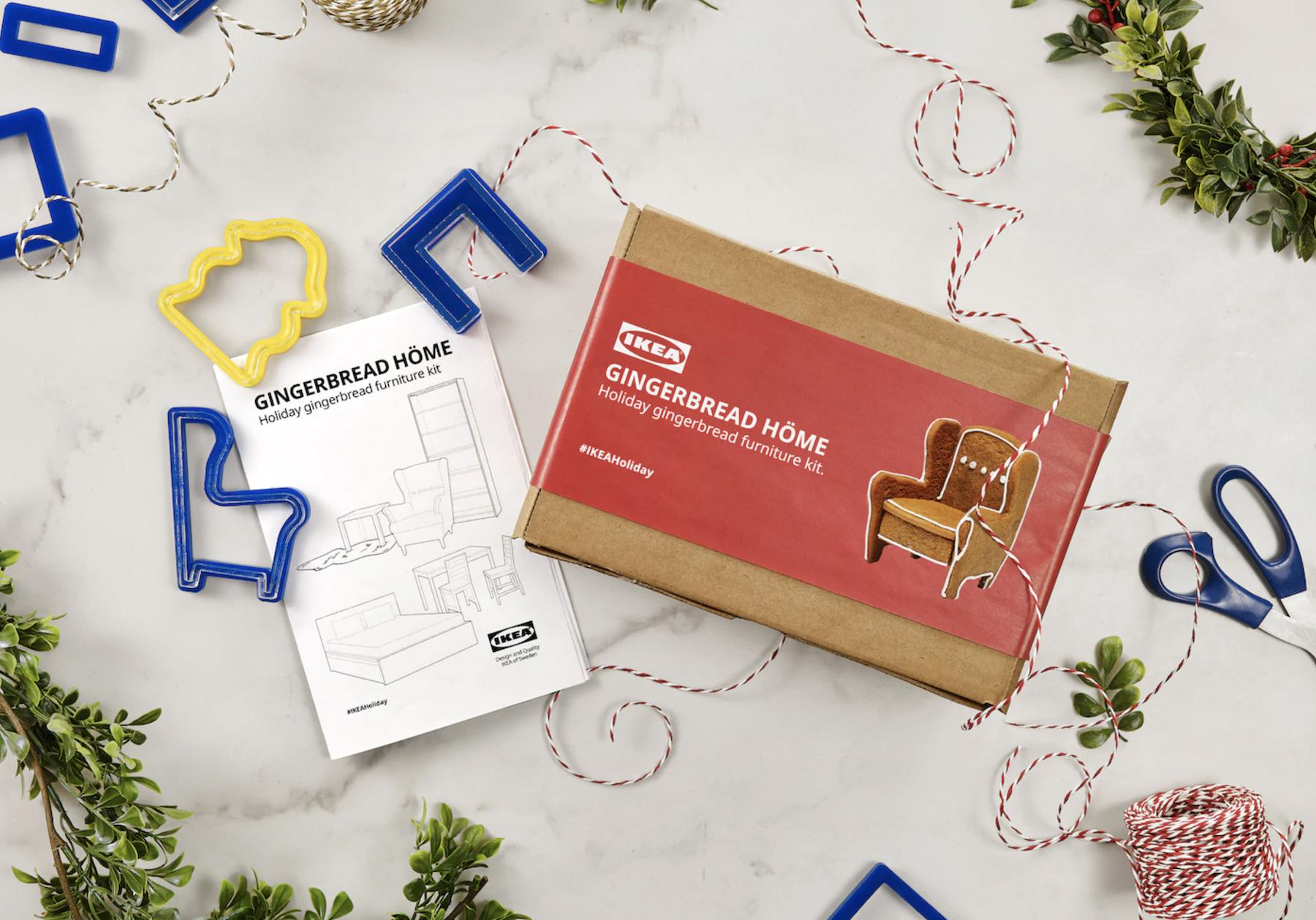 Pour Noël, IKEA crée des notices pour recréer ses meubles en pain d'épices