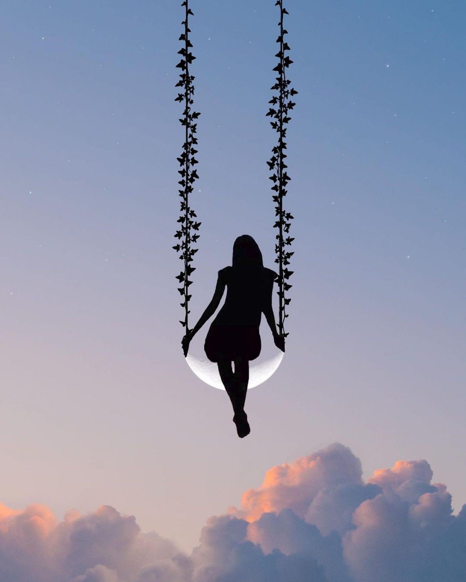 L'artiste Lân Nguyen superpose des silhouettes sur ses photos pour transformer les nuages en objets