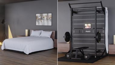 PIVOT Fitness a dévoilé un lit qui se transforme en appareil de musculation